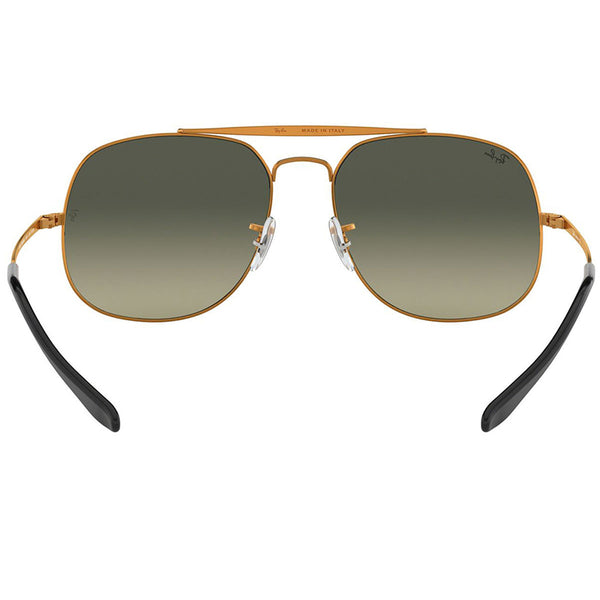 Ray-Ban General Sunglasses Bronze w/Grey/Green Gradient Lens Men