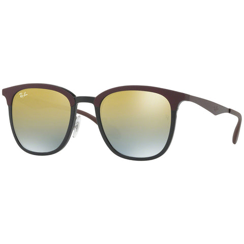 Ray-Ban Unisex Sunglasses Black Matte Brown Frame W/Green Gold Mirrored Gradient Lens RB4278 6285A7