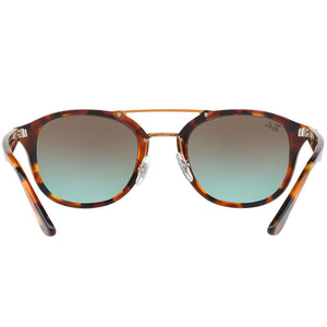 Ray Ban Unisex Square Sunglasses Green or Brown Lens | Back