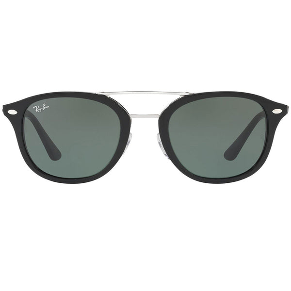 Ray Ban Square Unisex Sunglasses Black Green Classic | Front