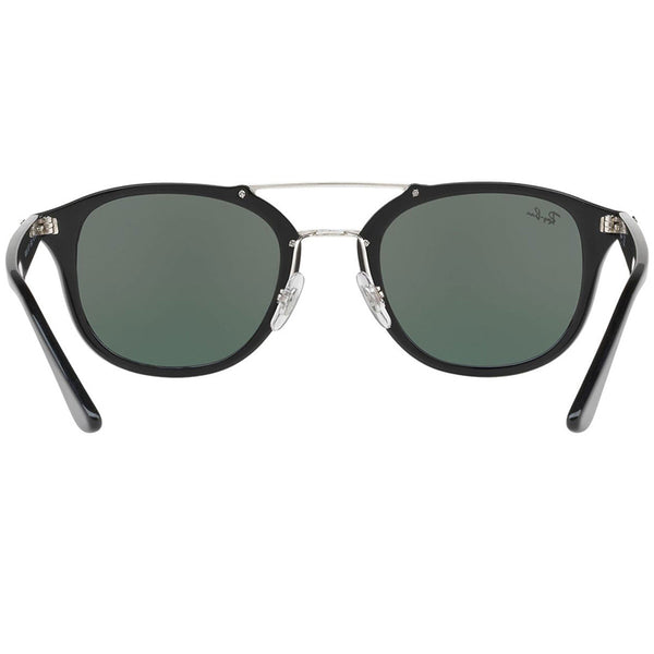 Ray Ban Square Unisex Sunglasses Black Green Classic | Back