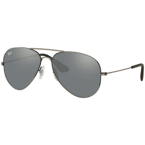 Ray Ban Aviator Unisex Sunglasses w/Grey Silver Mirrored Lens RB3558 91396G