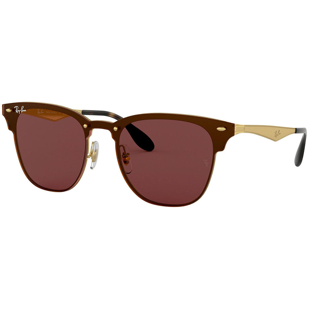 Ray Ban Blaze Clubmaster Unisex Sunglasses w/Violet Classic Lens RB3576N 043/75