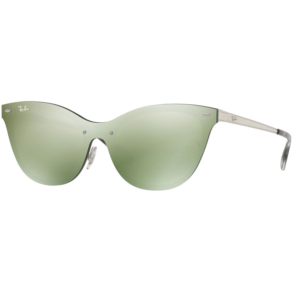 Ray-Ban Blaze Cat Eye Women's Sunglasses W/Green Mirrored Lens RB3580N 042/30