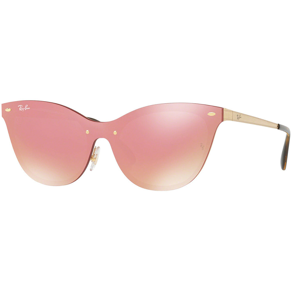 Ray-Ban Blaze Cat Eye Women's Sunglasses W/Pink Mirrored Lens RB3580N 043/E4 43