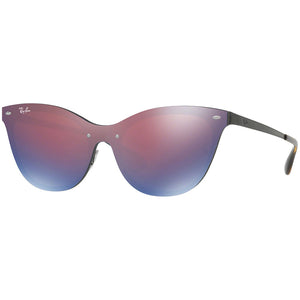 Ray-Ban Blaze Cat Eye Women's W/Dark Violet Blue Mirrored Lens RB3580N 153/7V 43