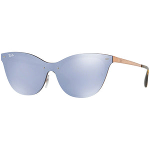 Ray-Ban Blaze Cat Eye Women's W/Violet Silver Mirrored Lens RB3580N 90391U 43