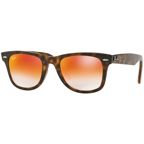 Ray-Ban Wayfarer Ease Unisex Sunglasses W/Orange Gradient Mirrored Lens RB4340 7