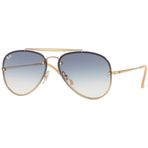 Ray Ban Blaze Aviator Blaze Unisex Sunglasses w/Light Blue Gradient Mirrored Lens RB3584N 001/19
