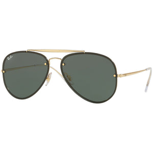 Ray Ban Blaze Aviator Blaze Unisex Sunglasses w/Dark Green Lens RB3584N 905071