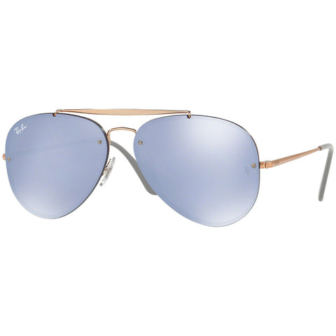 Ray-Ban Blaze Aviator Unisex Sunglasses W/Blue Mirrored Lens RB3584N 90531U