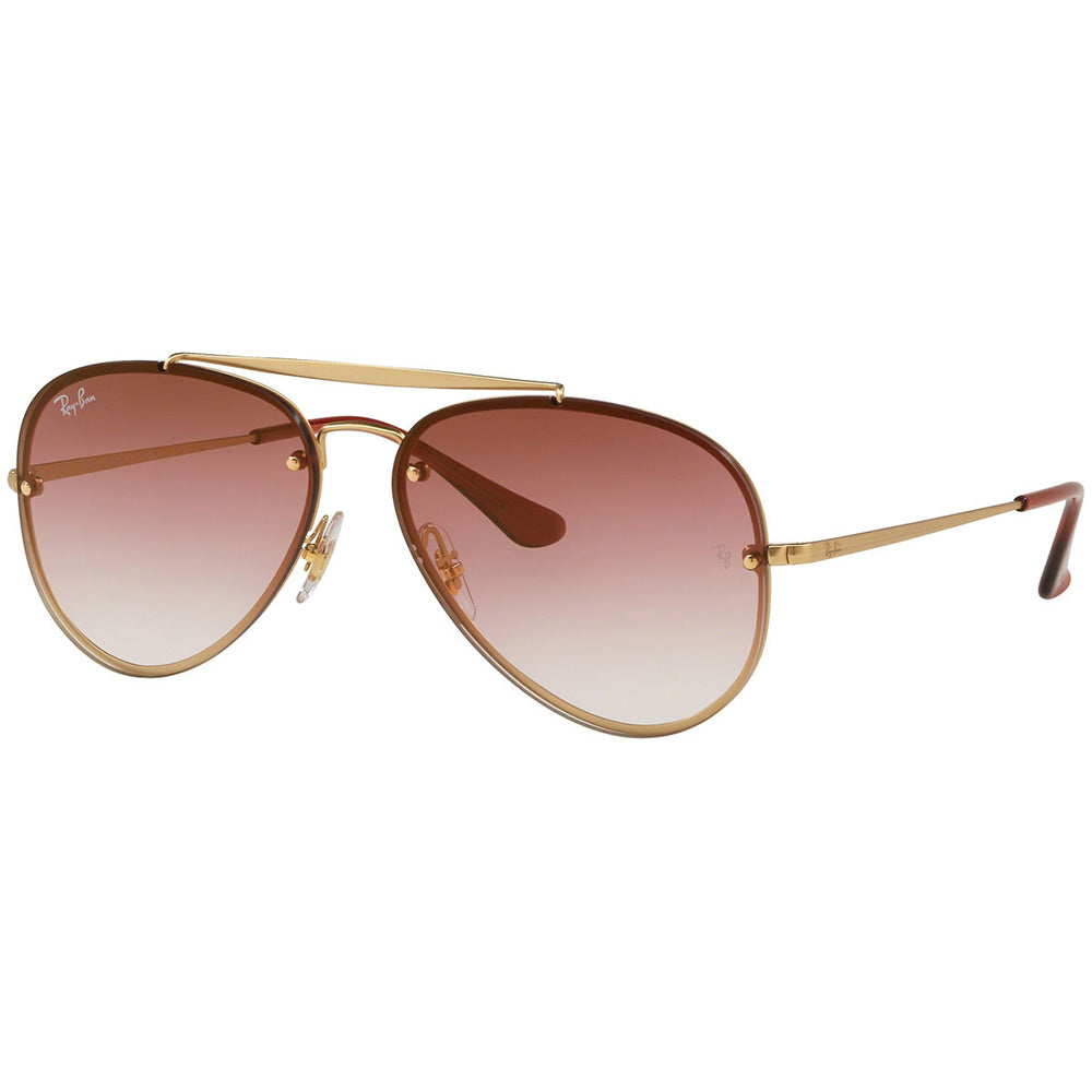 Ray Ban Blaze Aviator Blaze Unisex Sunglasses w/Dark Red Gradient Mirrored Lens RB3584N 91400T