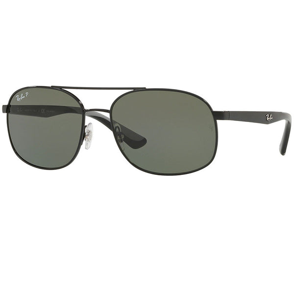 Ray-Ban Sunglasses Black w/Green Polarized Lens Men RB3593 002/9A