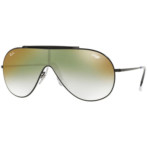 Ray-Ban Wings Men's Sunglasses W/Clear Green Gradient Mirrored Lens RB3597 002/W0
