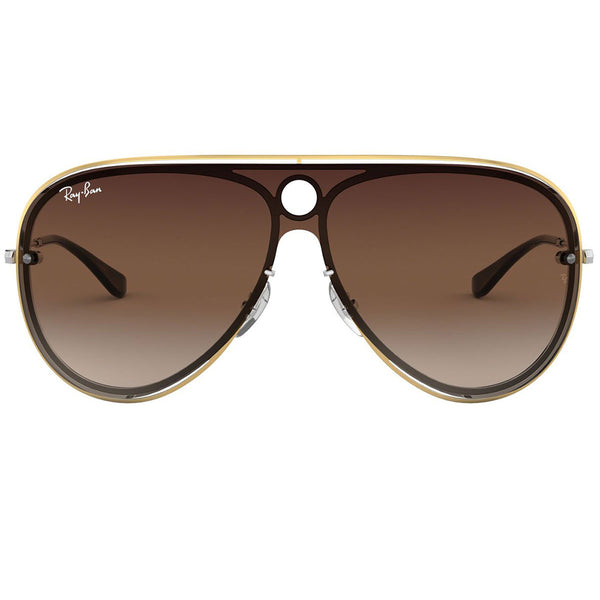 Ray-Ban Sunglasses Silver/Gold w/Brown/Dark Brown Gradient Lens Unisex RB3605N 909613