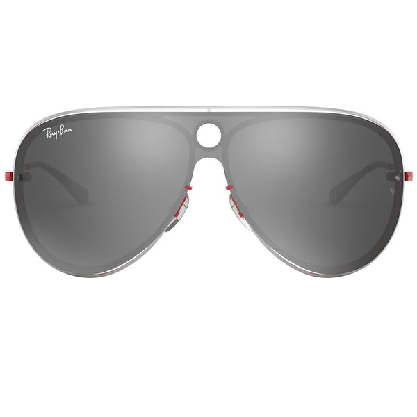 Ray-Ban Sunglasses Red/Silver w/Silver/Grey Mirrored Lens Unisex RB3605N 90976G