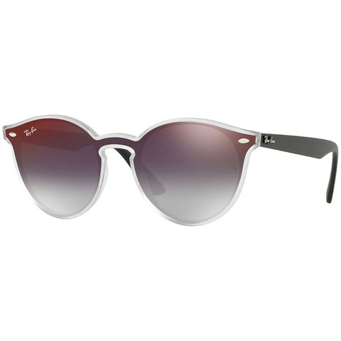 Ray-Ban Blaze Collection Sunglasses White Frame W/Grey Red Gradient Mirrored Lens RB4380N 6355U0