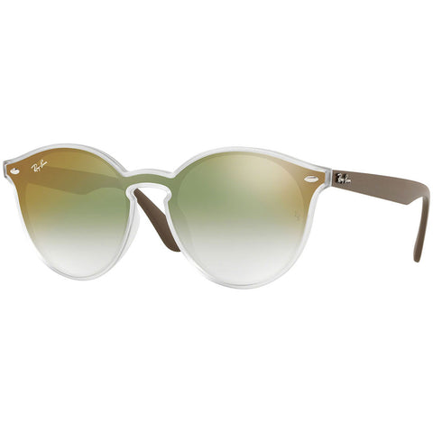 Ray-Ban Unisex Sunglasses W/Clear Green Gradient Mirrored Lens RB4380NF 6358W0