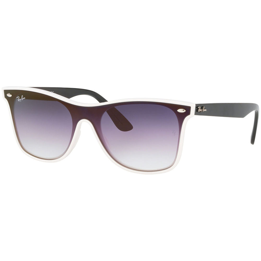 Ray Ban Blaze Wayfarer Unisex Sunglasses w/Violet Blue Gradient Mirrored Lens RB4440N 64160U