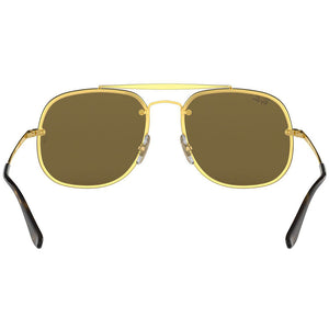 Ray Ban Blaze General Unisex Sunglasses w/Brown Classic Lens RB3583N 001/73