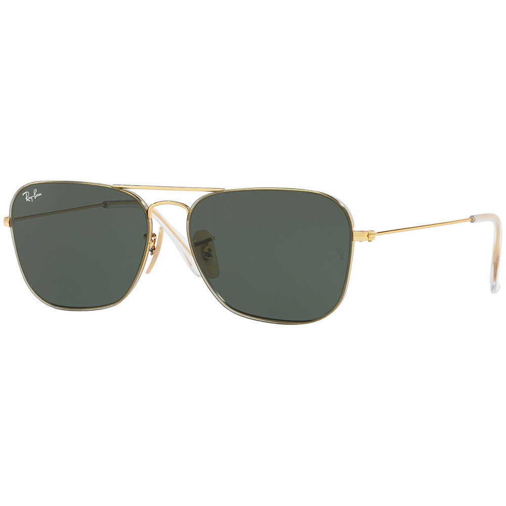 Ray Ban Aviator Unisex Sunglasses w/Green Lens RB3603 001/71