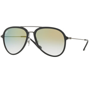 Ray-Ban Sunglasses Grey w/Clear Gold Mirrored/Gradient Lens Unisex RB4298 6333Y0