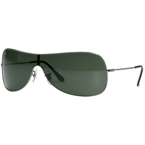 Ray-Ban Men's Sunglasses Gunmetal w/Green Lens RB3211 004/71