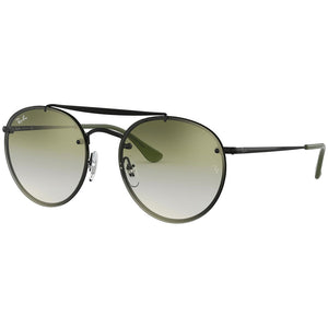 Ray Ban Blaze Round Double Bridge Blaze Unisex Sunglasses w/Green Gradient Lens RB3614N 148/0R
