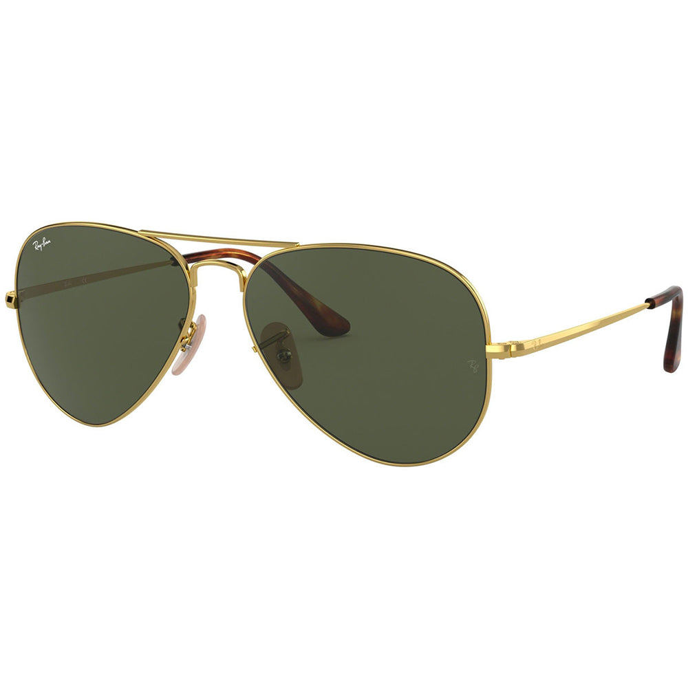 Ray Ban Unisex Sunglasses w/Crystal Green Lens RB3689 914731