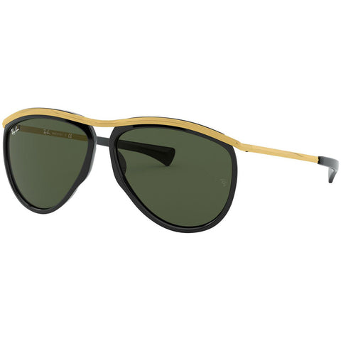 Ray-Ban Olympian Aviator Sunglasses w/Green Lens RB2219 901/31