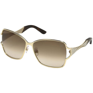 Swarovski Women's Sunglasses Square Style Gold w/ Brown Gradient Lens  SK0064-33F-61