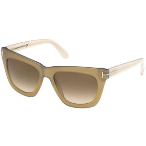 Tom Ford Celina Square Women's Sunglasses Brown Lens