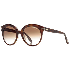 Tom Ford Monica Round Women's Sunglasses Brown Gradient Lens