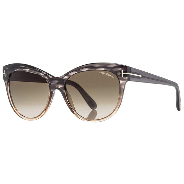 Tom Ford Lily Cat Eye Women's Sunglasses Green Gradient Lens