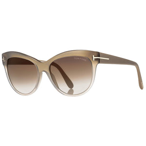Tom Ford Lily Cat Eye Women's Sunglasses With Brown Lens