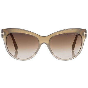 Tom Ford Lily Cat Eye Women's Sunglasses Brown Lens - Front