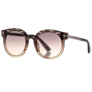 Tom Ford Janina Round Unisex Sunglasses Grey Gradient Lens
