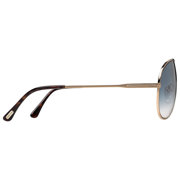 Tom Ford Men's Aviator Sunglasses Gradient Lenses | Temple