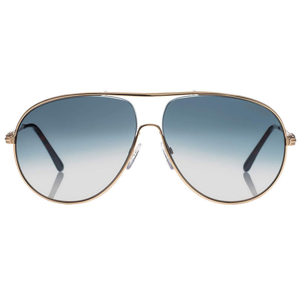 Tom Ford Men's Aviator Sunglasses Gradient Lenses | Front View