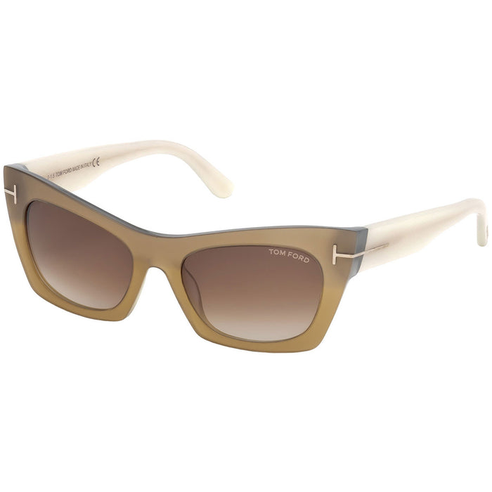 Tom Ford Kasia Women's Sunglasses w/Brown Gradient Lens FT0459 38F