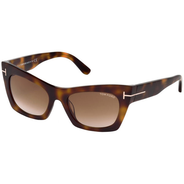 Tom Ford Kasia Square Women's Sunglasses Brown Gradient Lens