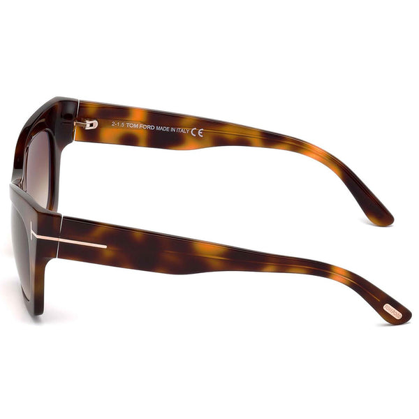 Tom Ford Kasia Square Women's Sunglasses Brown Lens | Side