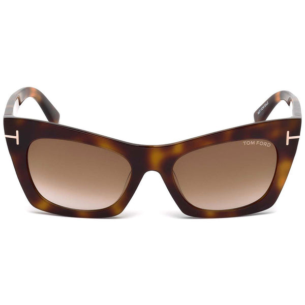 Tom Ford Kasia Square Women's Sunglasses Brown Lens | Front