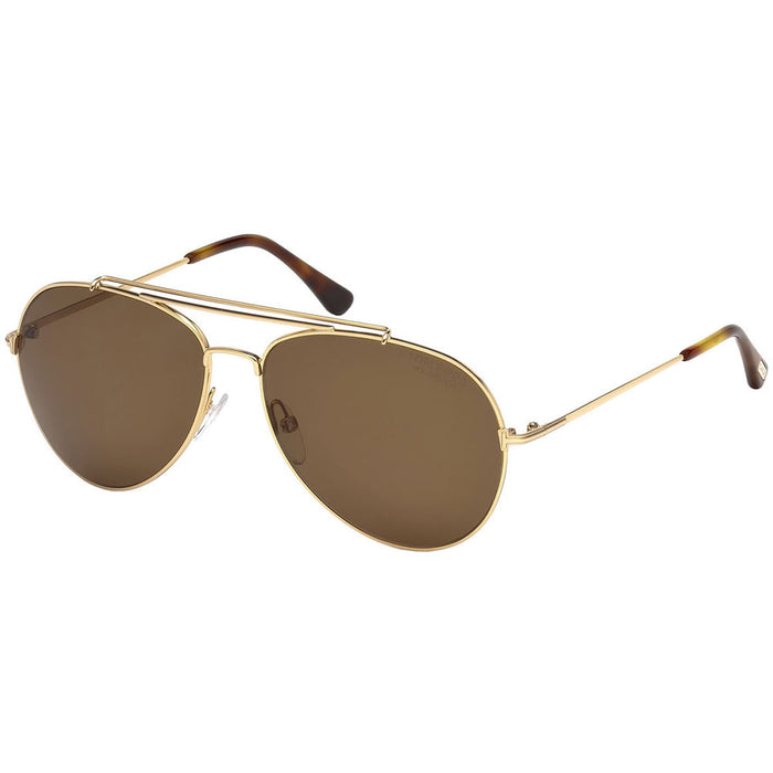 Tom Ford Indiana Unisex Sunglasses With Brown Polarized Lens FT0497 28H