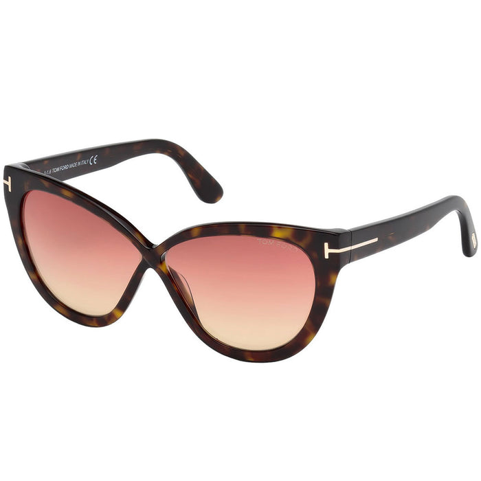 Tom Ford Arabella Women's Sunglasses W/Smoke Gradient Lens FT0511 52B