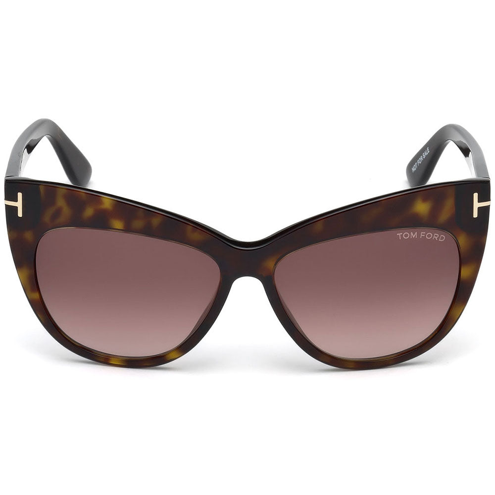 Tom Ford Nika Cat Eye Women's Gradient Sunglasses Brown Lens