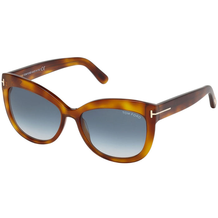 Tom Ford Alistair Women's Sunglasses W/Blue Gradient Lens FT0524 53W