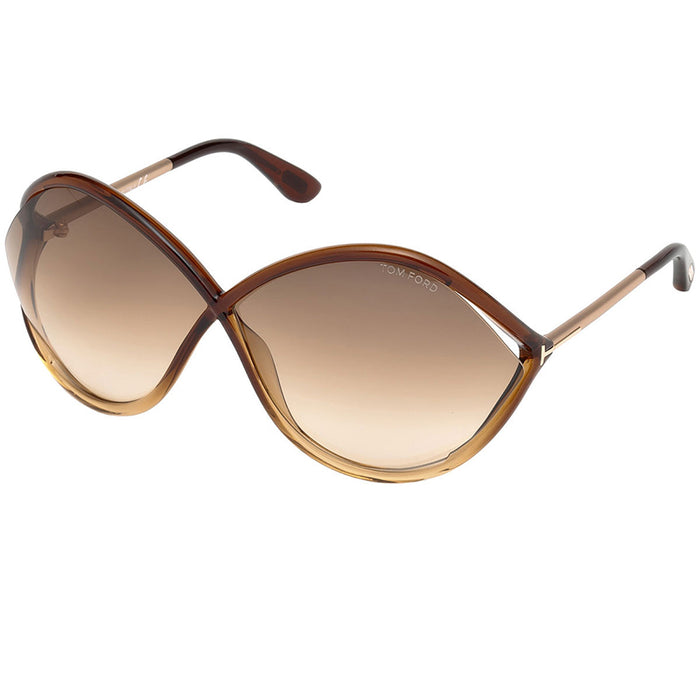 Tom Ford Liora Sunglasses Dark Brown w/Brown Gradient Lens Women