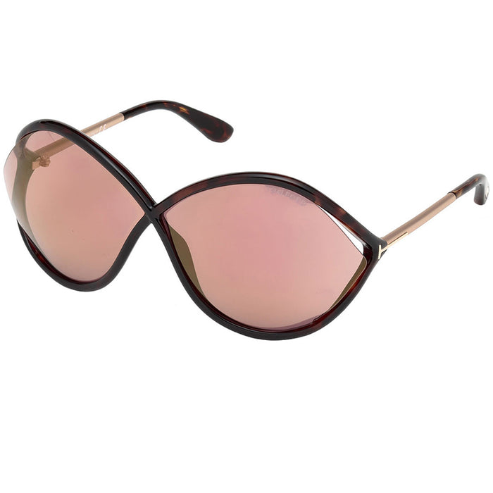 Tom Ford Liora Sunglasses Havana w/Purple Lens Women