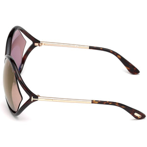 Tom Ford Liora Oversize Women's Sunglasses Purple Lens | Side
